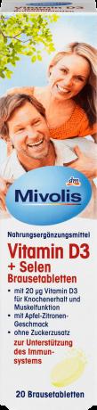 Витамины Mivolis (витамин D3+селен) 20шт