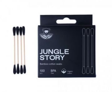 Бамбуковые ватные палочки с органическим хлопком Black