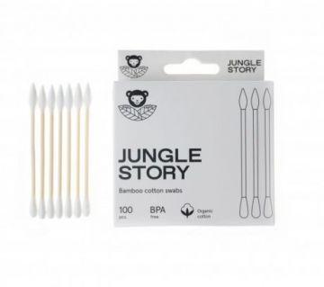 Бамбуковые ватные палочки с органическим хлопком White