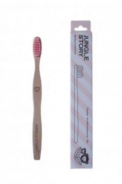 Бамбуковая зубная щетка Junior Pink Sunset
