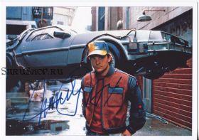 Автограф: Майкл Дж. Фокс. Назад в будущее II