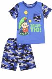 Комплект для мальчика с принтом камуфляж индиго