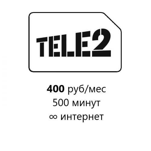 SIM-карта TELE2 Прозрачные границы M