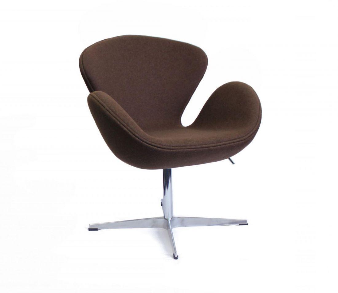 Кресло SWAN CHAIR коричневый кашемир