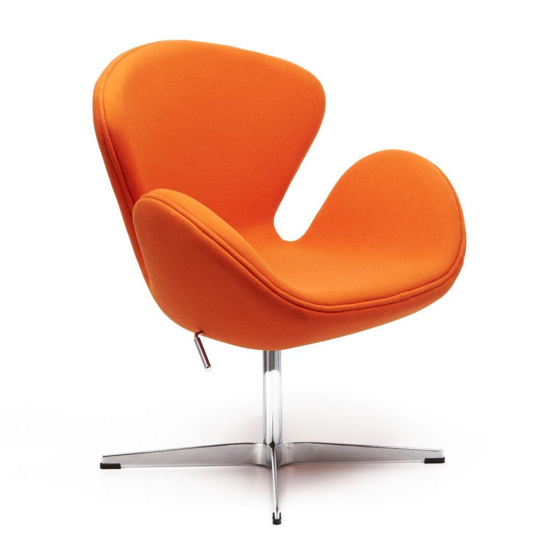 Кресло SWAN CHAIR оранжевый, кашемир