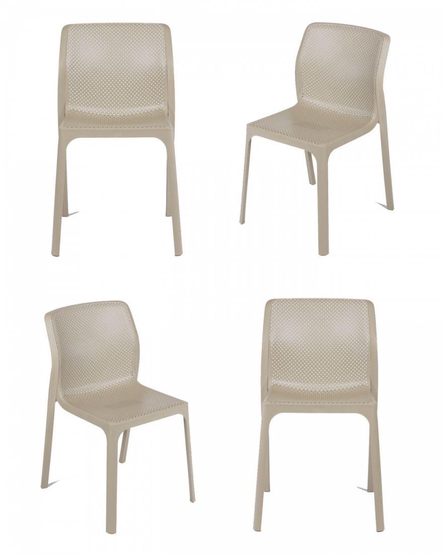 Комплект из 4-х стульев Relax кремовый