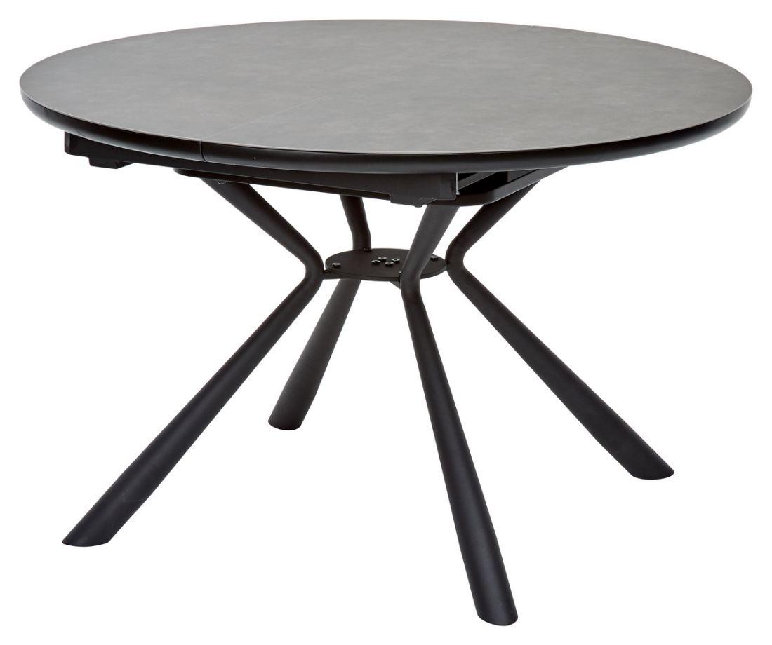 Стол TONDO Раскладной 120/160 темно-серый, испанская  керамика