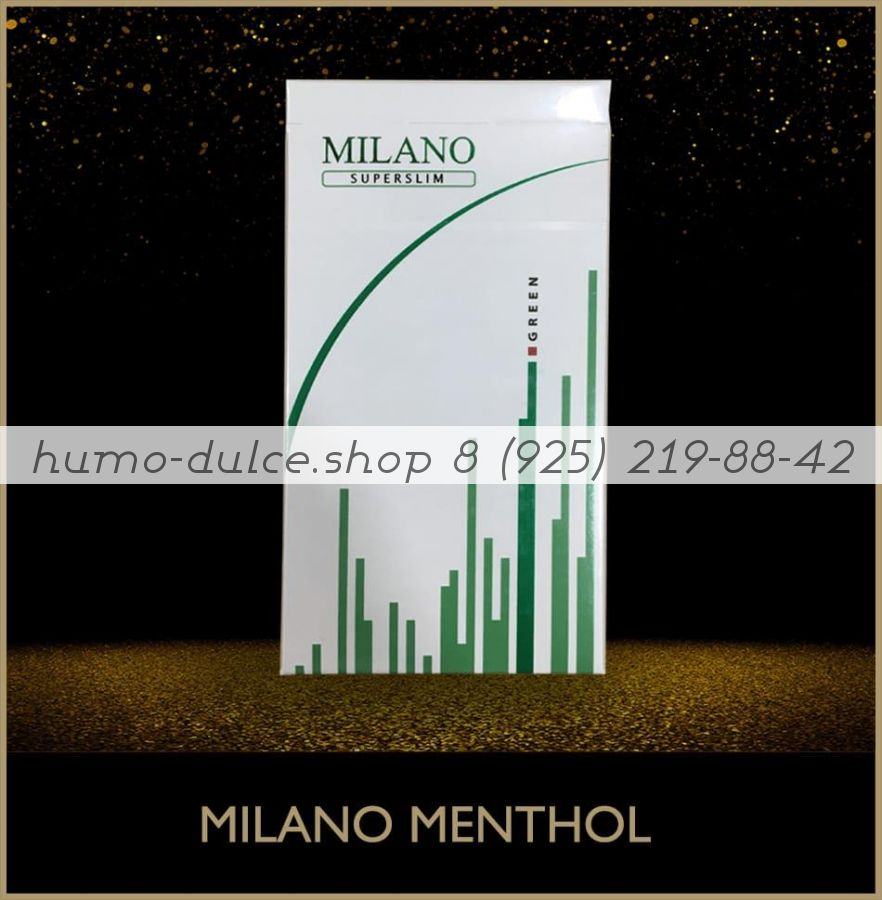 Milano Super Slim Menthol 1 коробка (50 блоков)