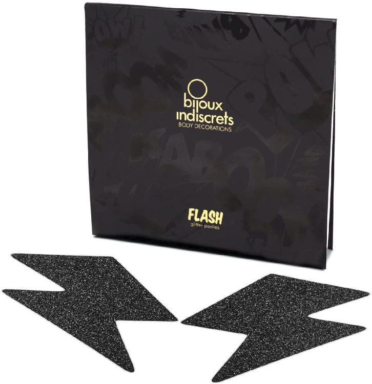 Наклейки на грудь (пэстис) Bijoux Black Flash
