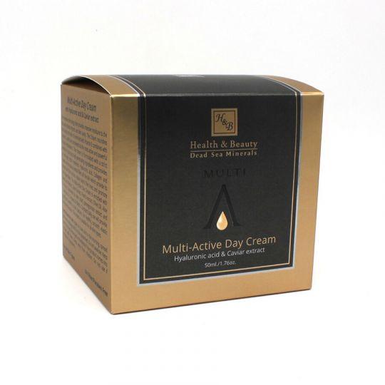 Крем для лица дневной мультиактивный с гиалуроновой кислотой и экстрактом черной икры Health & Beauty BLACK (Хелс энд Бьюти Блэк) 50 мл