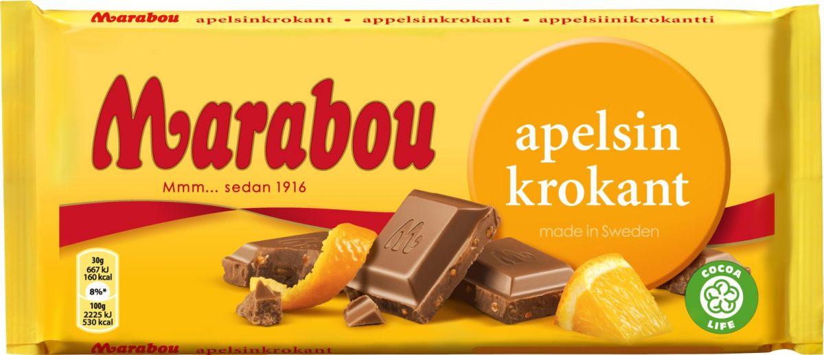 Шоколад Marabou Молочный шоколад с апельсином 200г