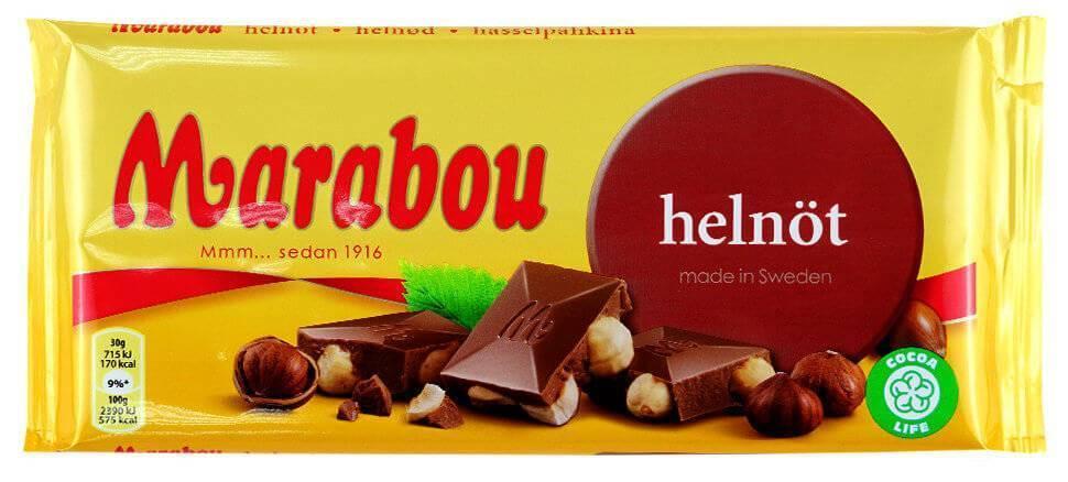 Шоколад Marabou Молочный шоколад (цельный фундук) 200г
