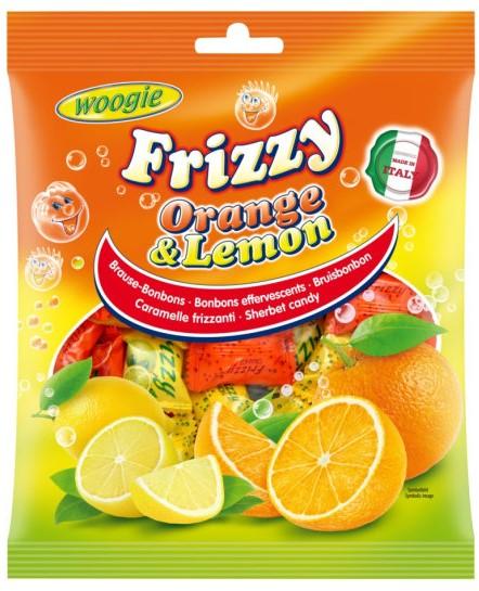 Карамель леденцовая Woogie (апельсин, лимон) 250г