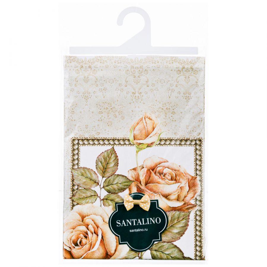 """Полотенце """"Корейская роза"""" 40x70 см. кремовый 100% хлопок, твилл, букет"""