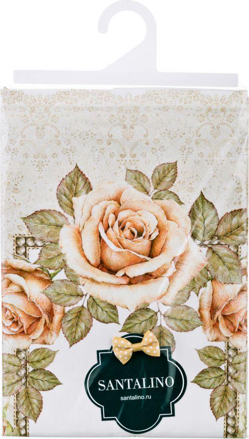 """Полотенце """"Корейская роза"""" 40x70 см. кремовый 100% хлопок, твилл, в рамку"""