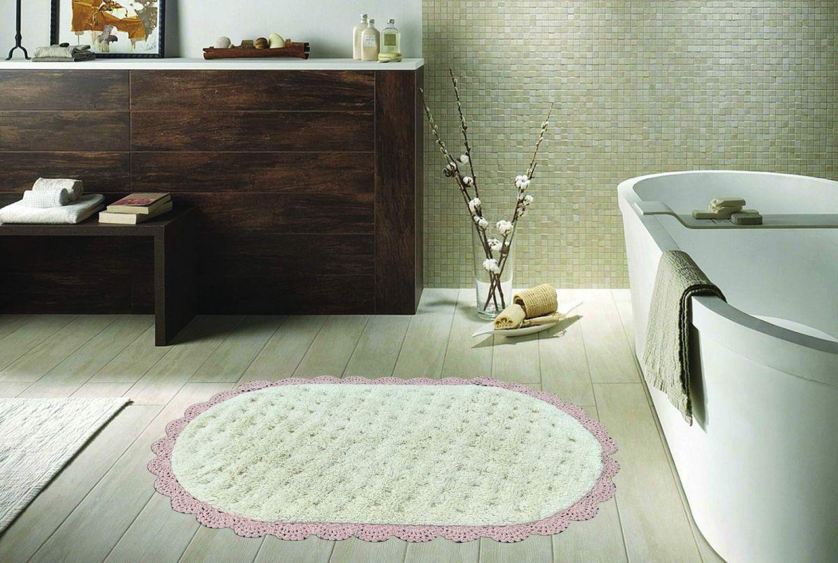 VANDA (пудра) Набор ков. для ванной кружевной 60х100 и 50х70