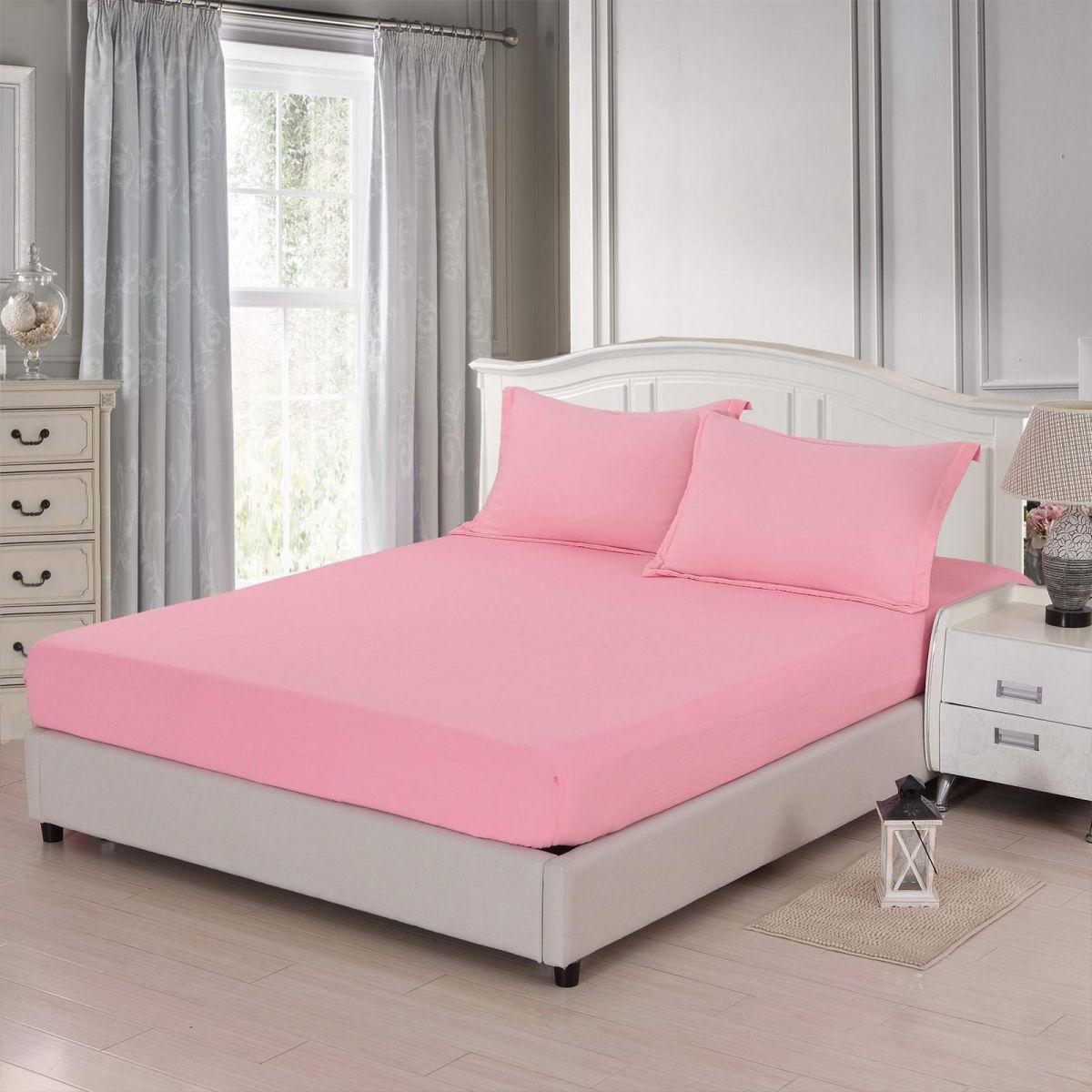 Ирианна (розовая) Простынь Жатка 240х260