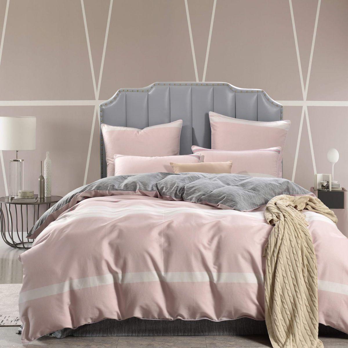 Сивилла (розовая) КПБ сатин Евро 4н