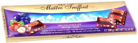 Шоколад Maitre Truffout Молочный шоколад (изюм, фундук) 300г