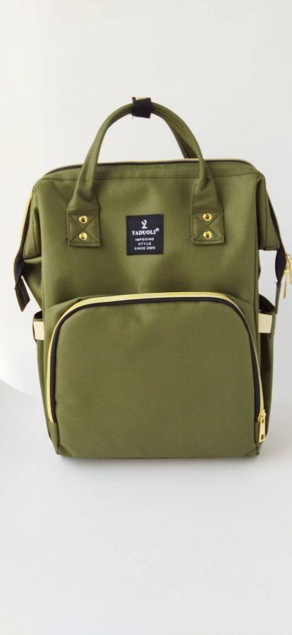 Рюкзак для мам с USB портом хаки