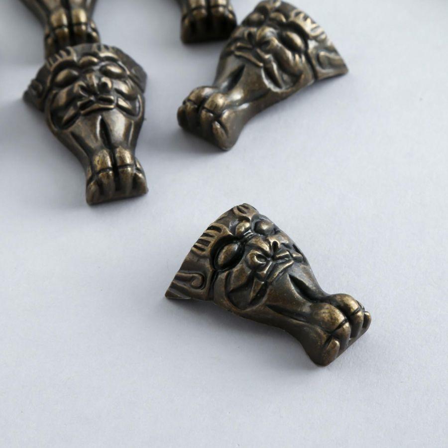 Ножка для шкатулки Маска, бронза, 3,7*2,9 см