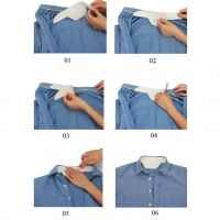 Дорожный набор подворотничков Collar Sweat-Absorption Paste, 6 шт-2