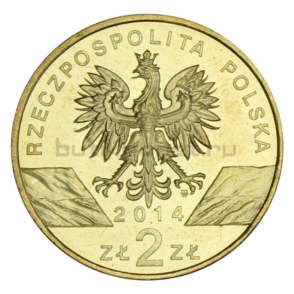 2 злотых 2014 Польша Польский коник