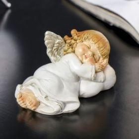 """Силиконовая форма """"Ангелочек с локонами спит на подушке""""  4,5х9,7х6,5 см"""