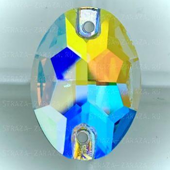 K9 Luxe Пришивные Стразы Crystal_AB Овал 10*14 мм