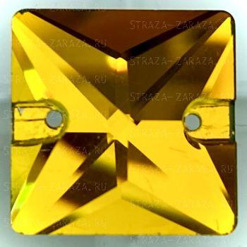 K9 Luxe Пришивные Стразы Vitrail_Topaz Квадрат 16 мм