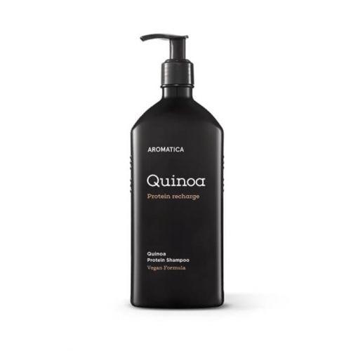 Бессульфатный шампунь с протеинами для повреждённых волос AROMATICA Quinoa Protein Hair Shampoo 400мл