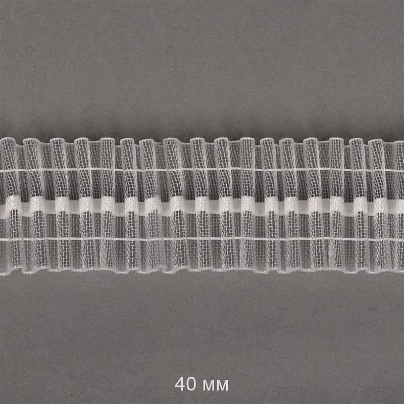 Лента шторная Caron 40 мм сборка универсальная  цвет прозрачный (Caron401-0)