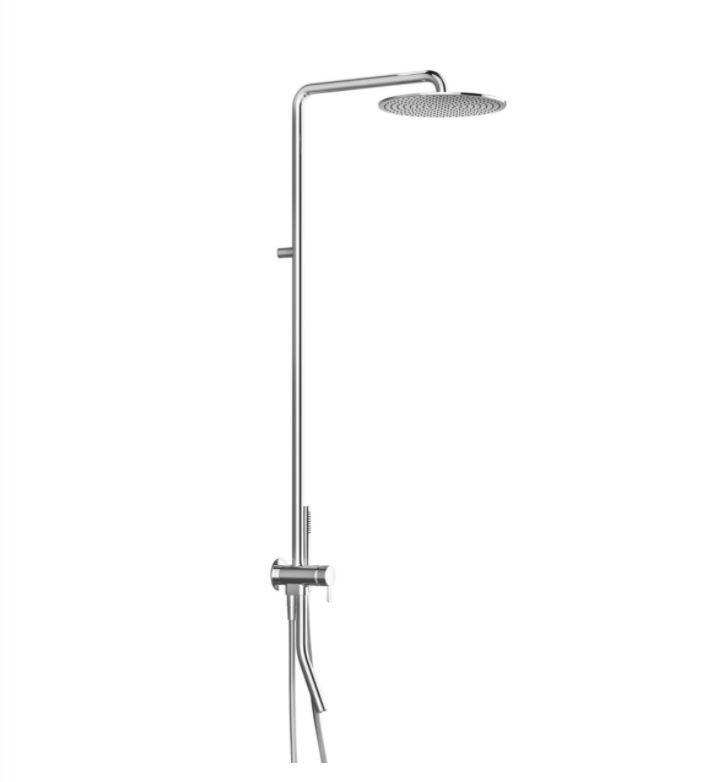 Душевая стойка Fantini Now 8115B с изливом и круглым верхним душем ФОТО