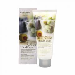 284347 3W CLINIC Увлажняющий крем для рук с экстрактом оливы Moisturizing Olive Hand Cream