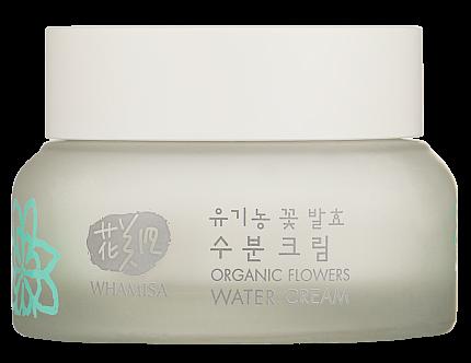 Крем увлажняющий для всех типов кожи Whamisa Organic Flowers Water Cream Natto Gum
