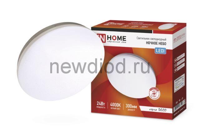 Светильник светодиодный серии DECO 24Вт 230В 4000К 1560лм 300х55мм НОЧНОЕ НЕБО IN HOME