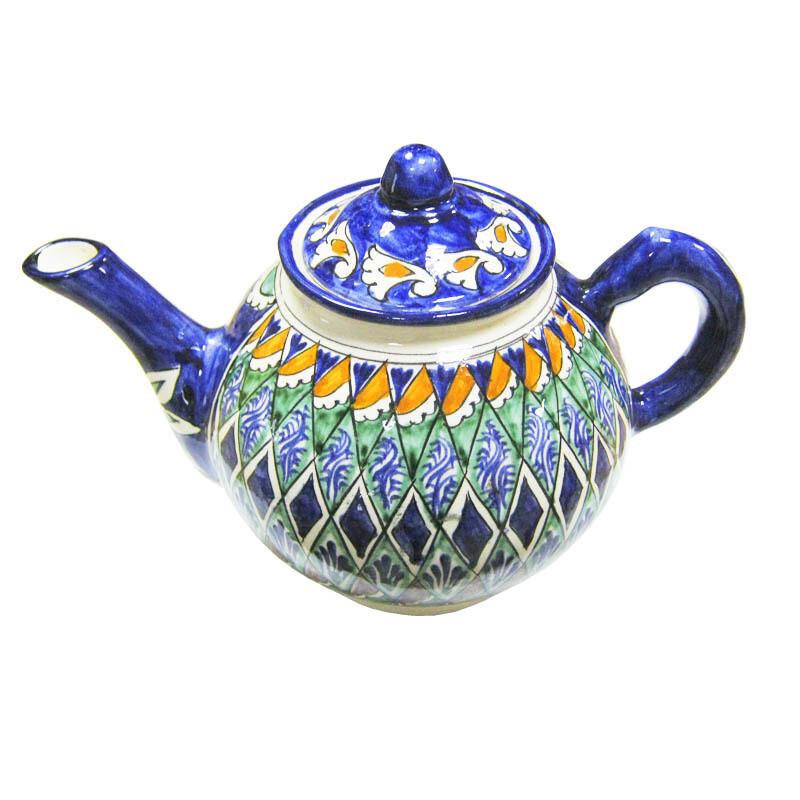 Чайник узбекский Риштан, 1 литр, ручная работа, УЦЕНКА