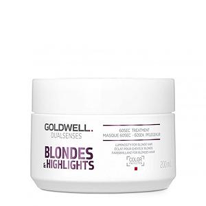 Goldwell Dualsenses Blondes And Highlights 60sec Treatment - Интенсивный уход за 60 секунд 200мл