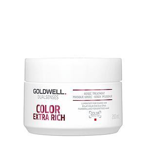 Goldwell Dualsenses Color Exrta Rich 60SEC Treatment - Интенс. уход за 60 секунд для блеска окраш. волос 200мл