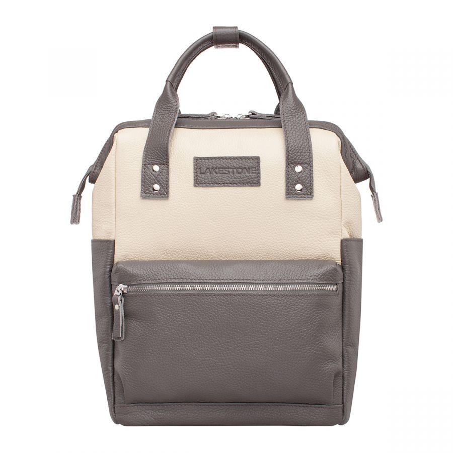 Кожаная сумка-рюкзак Lakestone Neish Dark Grey