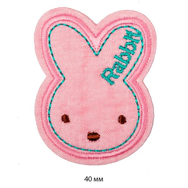 Фото Термо-аппликация Розовый кролик 40 мм 1437