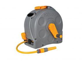 """Катушка HoZelock 2494 Pro c закрытым корпусом 1/2"""" 40м, коннекторами и наконечником для шланга. Отдельностоящая"""