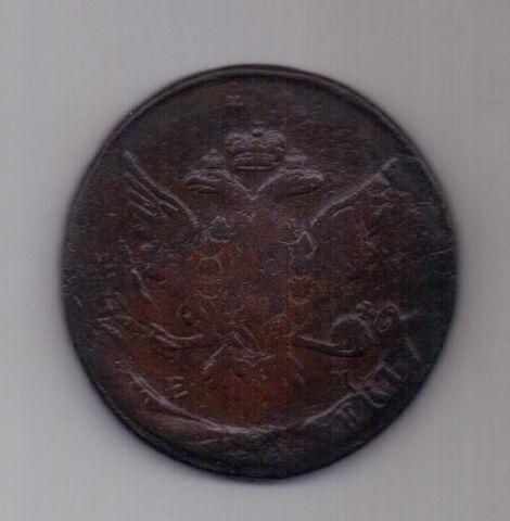 5 копеек  1764 года ЕМ перечекан