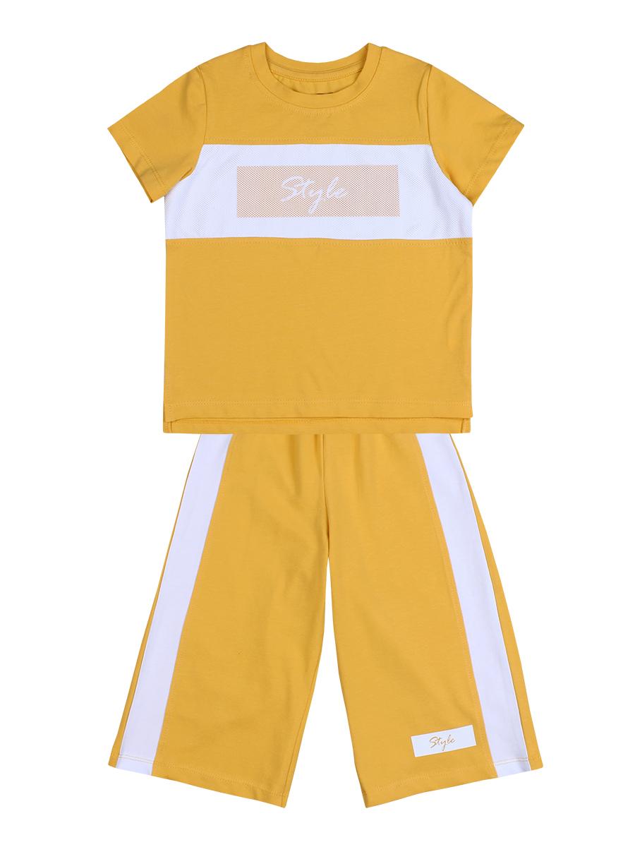 "Комплект для девочки (Футболка,Кюлоты) ""Style"" желтый"