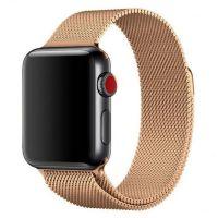 Ремешок миланская петля для часов Apple Watch   42/44mm  Gold