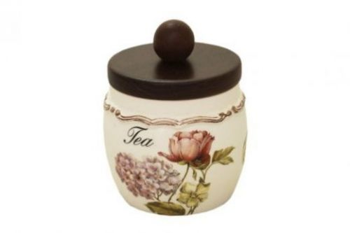 Банка для сыпучих продуктов с деревянной крышкой(чай) Сады Флоренции LCS010PLT-BO-AL