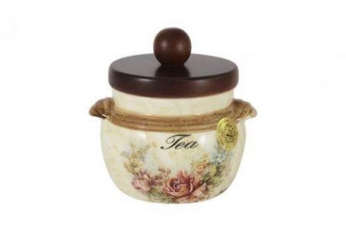 Банка для сыпучих продуктов с деревянной крышкой (чай) Элианто LCS670PLT-EL-AL