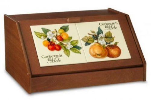 Хлебница Итальянские фрукты NC6837-CEM-AL