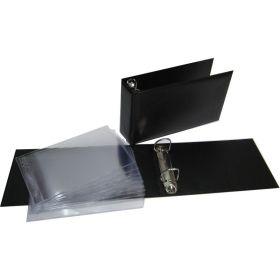 Альбом горизонтальный ПВХ 230х140 мм для бон, открыток, конвертов лист 180*120 мм (ЛБОК) 10 шт.