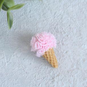 Кукольный аксессуар - Мороженое клубничное 3 см.